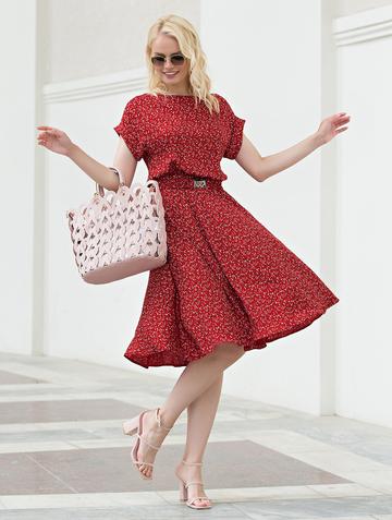 Платье lanty, цвет бордовый