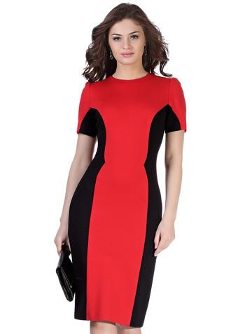 Платье milly, цвет красно-черный