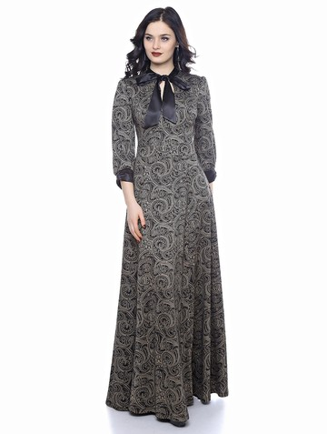 Платье noksa, цвет бежевые огурцы
