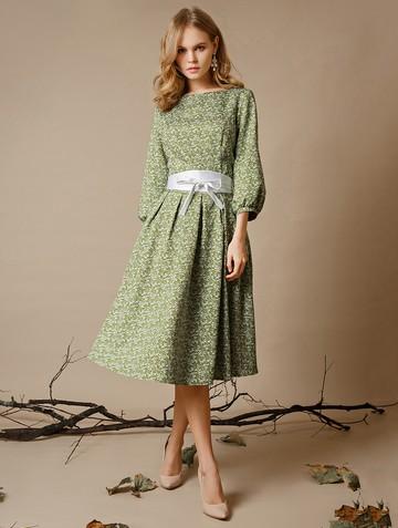 Платье evdokia, цвет молочно-зеленый