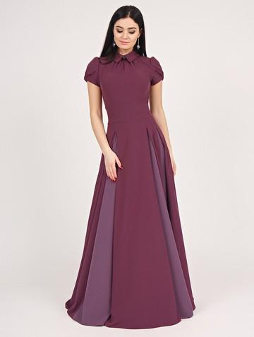 Платье bliss, цвет лилово-бордовый