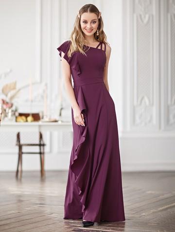 Платье dafina, цвет лилово-бордовый