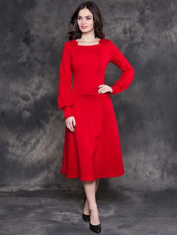 Платье iva, цвет красный