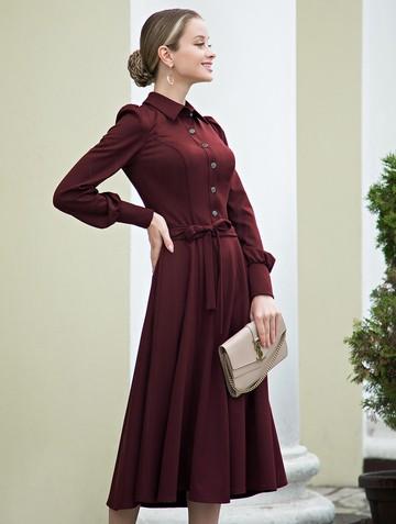 Платье dilia, цвет бордовый