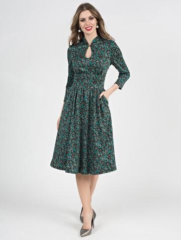 Платье aram, цвет черно-бирюзовый
