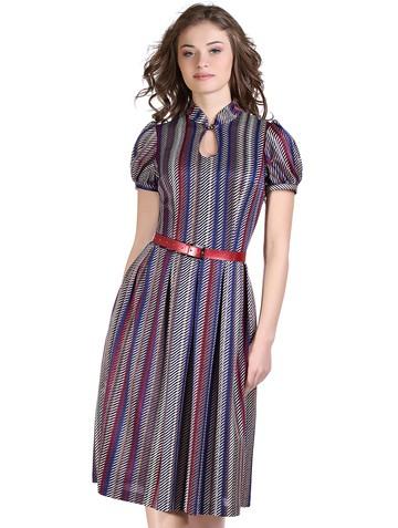 Платье nensy, цвет сине-бордовый
