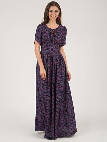 Платье ananda, цвет черно-розовый