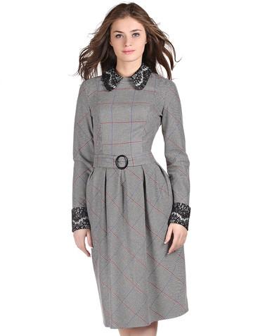 Платье missy, цвет черно-белая лапка