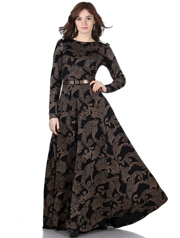 Платье lemua, цвет огурцы на черном
