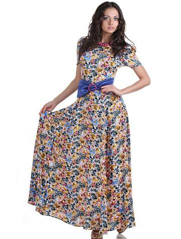 Платье astra, цвет бежево-голубой