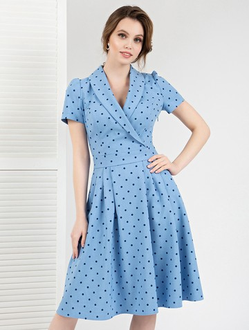 Платье rosko, цвет голубой