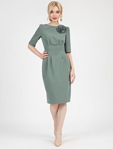 Платье kriss, цвет серо-зеленый