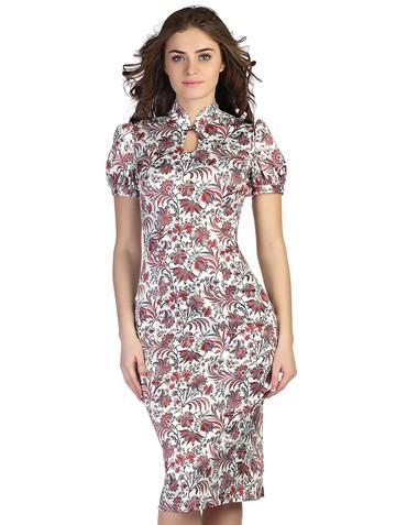 Платье klimentina, цвет молочно-бордовый