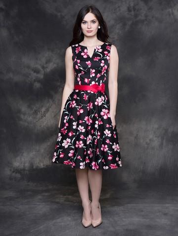 Платье irada, цвет черно-розовый