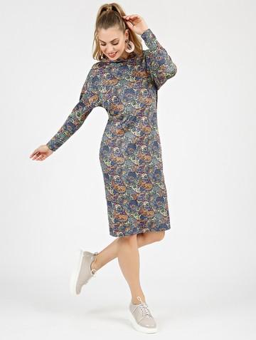 Платье ivy, цвет сине-розовый