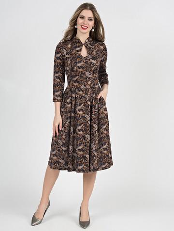 Платье aram, цвет черно-песочный