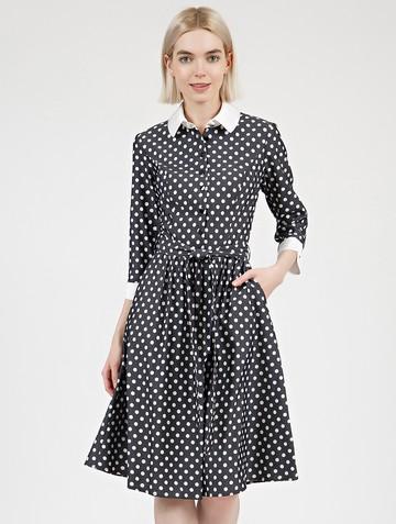 Платье kibbly, цвет черно-белый