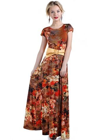 Платье juliy, цвет терракотовый
