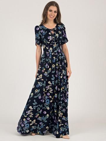 Платье ananda, цвет сине-бирюзовый