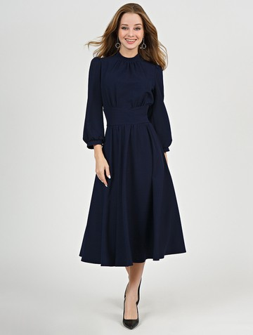 Платье nalva, цвет темно-синий