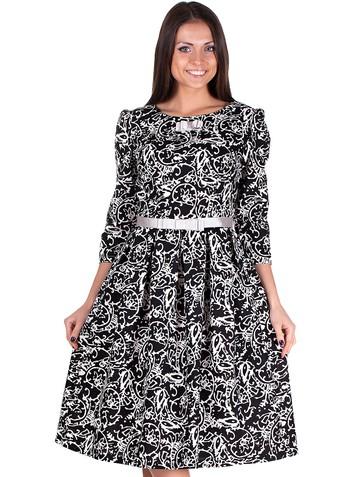 Платье rally, цвет черно-белый