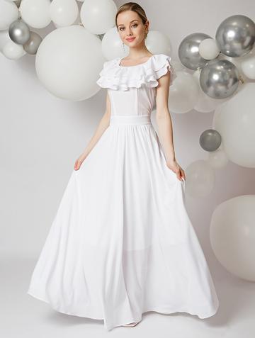 Платье arizona, цвет белый