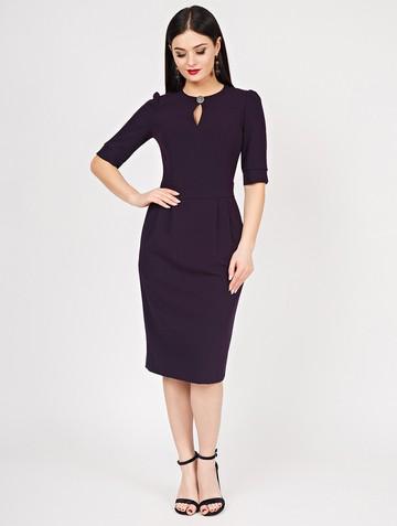 Платье nonna, цвет темно-фиолетовый