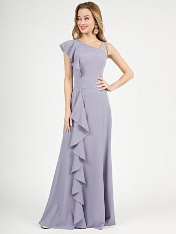 Платье dafina, цвет серо-голубой