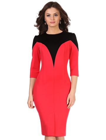 Платье demy, цвет черно-розовый