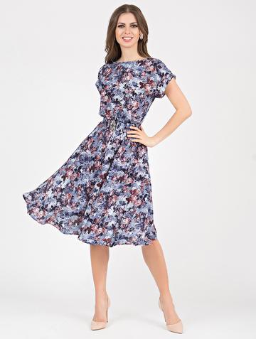 Платье lanty, цвет сине-терракотовый
