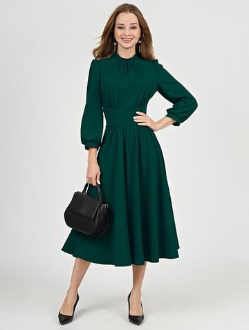 Платье nalva, цвет изумрудный