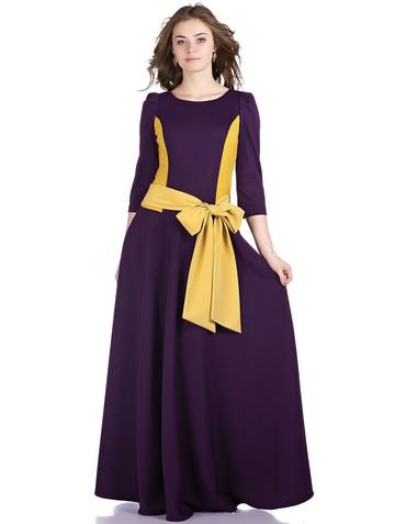 Платье lanjy, цвет фиолетово-желтый