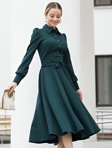 Платье dilia, цвет темно-зеленый