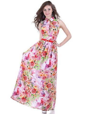 Платье mimoza, цвет красно-зеленый