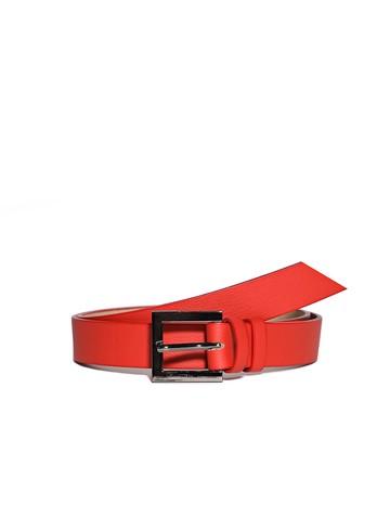 Ремень Rm-031, цвет красный матовый