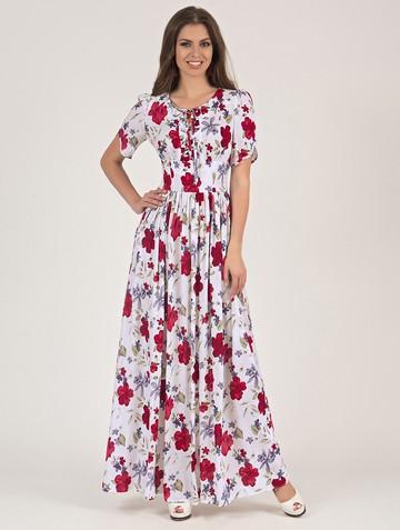 Платье ananda, цвет бело-красный
