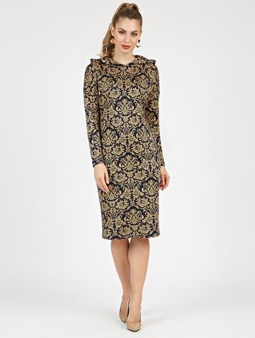 Платье ivy, цвет сине-золотой
