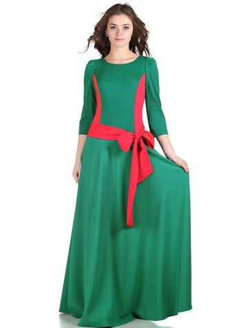 Платье lanjy, цвет изумрудно-коралл