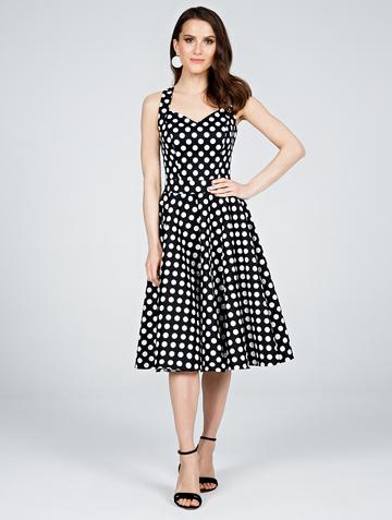 Платье adella, цвет черно-белый