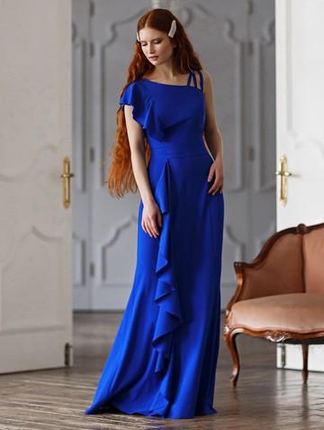Платье dafina, цвет васильковый