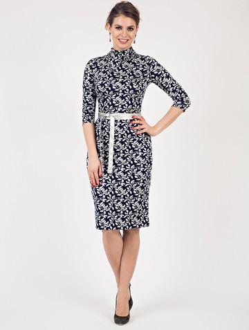 Платье sofy, цвет сине-серый