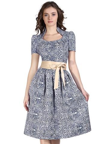 Платье taimy, цвет сине-белое кружево