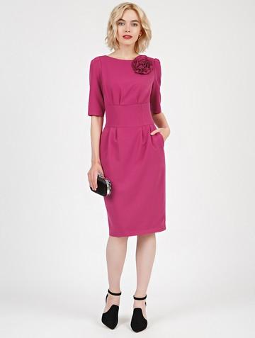 Платье kriss, цвет фуксия