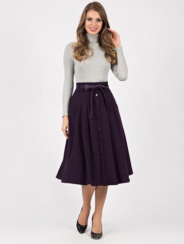 Юбка ursa, цвет темно-фиолетовый