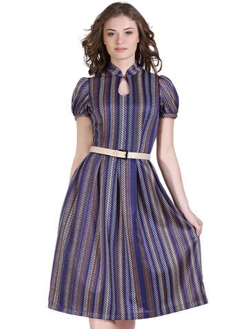Платье nensy, цвет бежево-синий