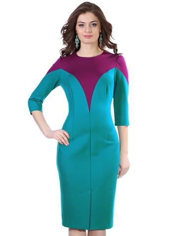 Платье demy, цвет пурпурно-бирюзов