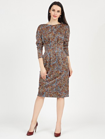 Платье nisetty, цвет горчично-лиловый