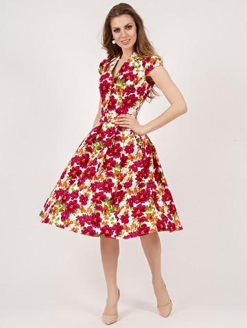Платье solima, цвет молочно-малиновый