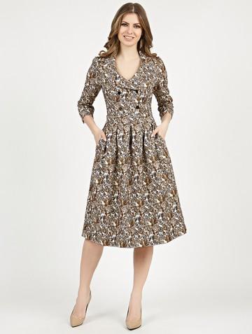 Платье varia, цвет кофейный
