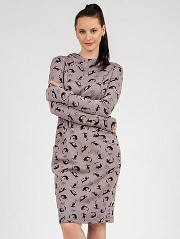 Платье nixy, цвет лилово-черный